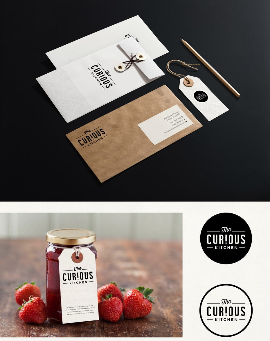 Corporate identity design für The Curious Kitchen