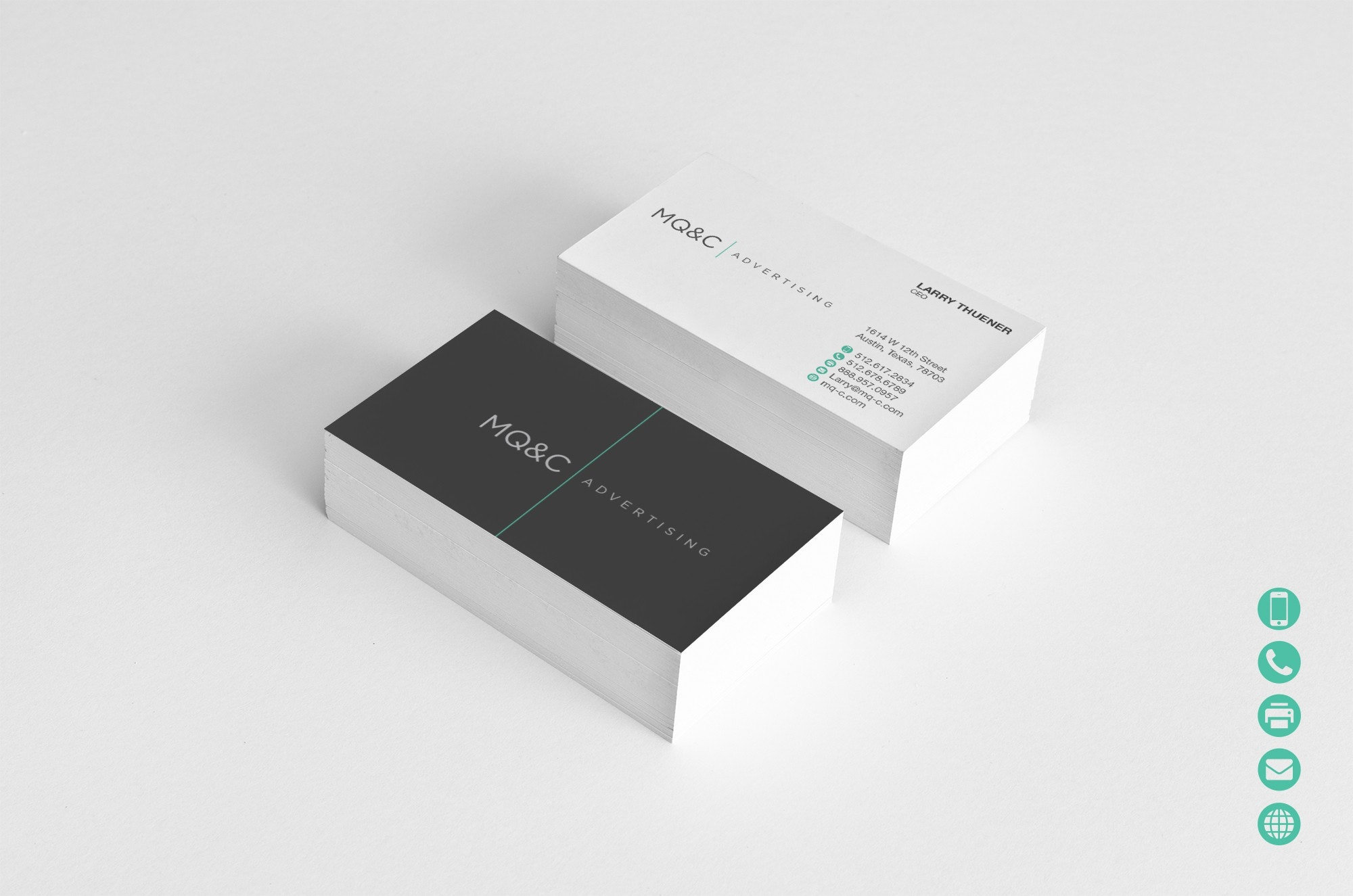 Brand messaging in business card design