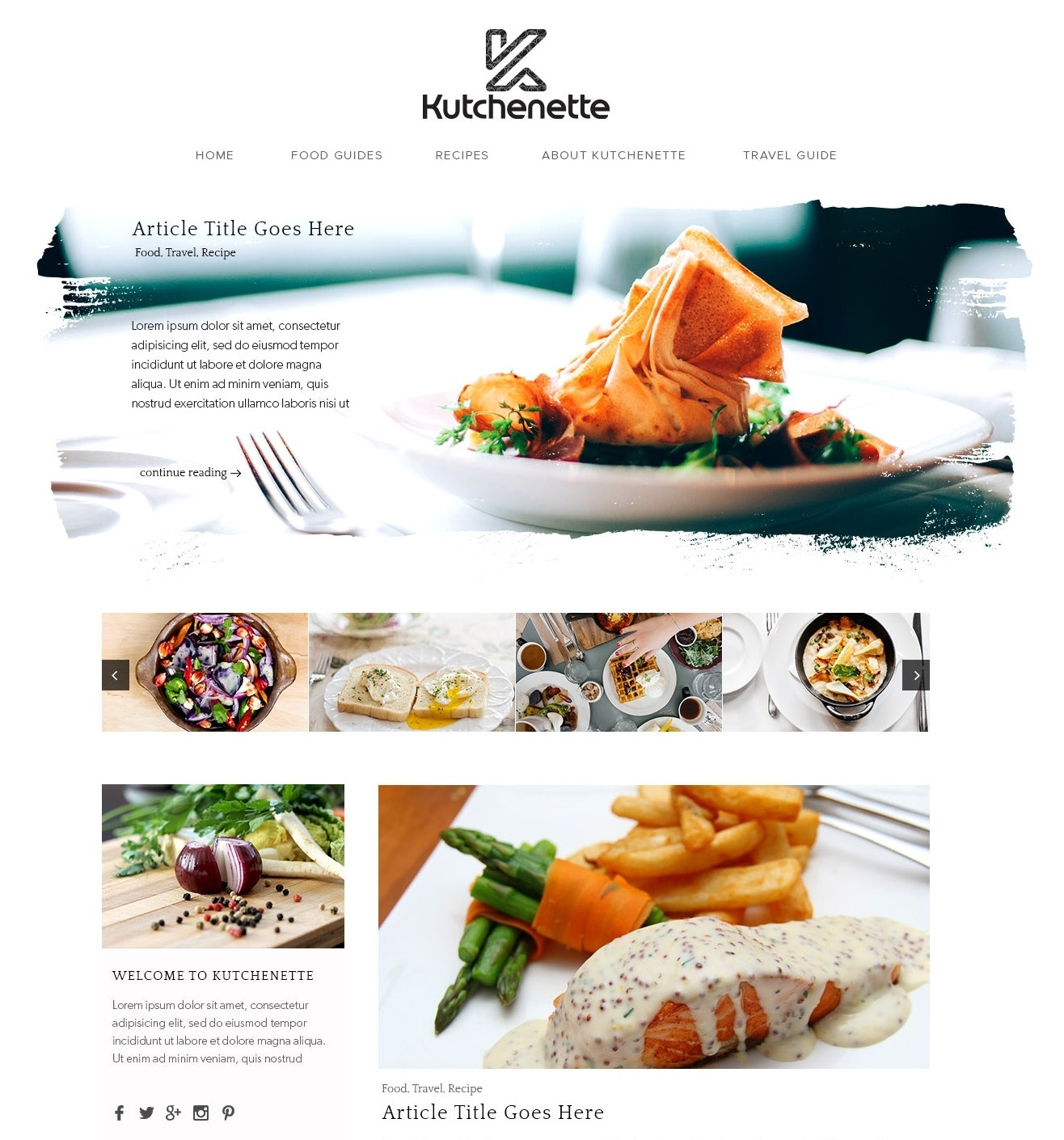 Food blog design