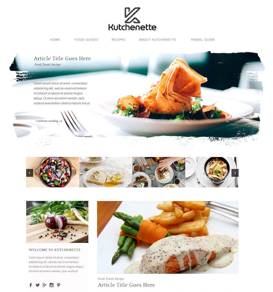 Food blog design