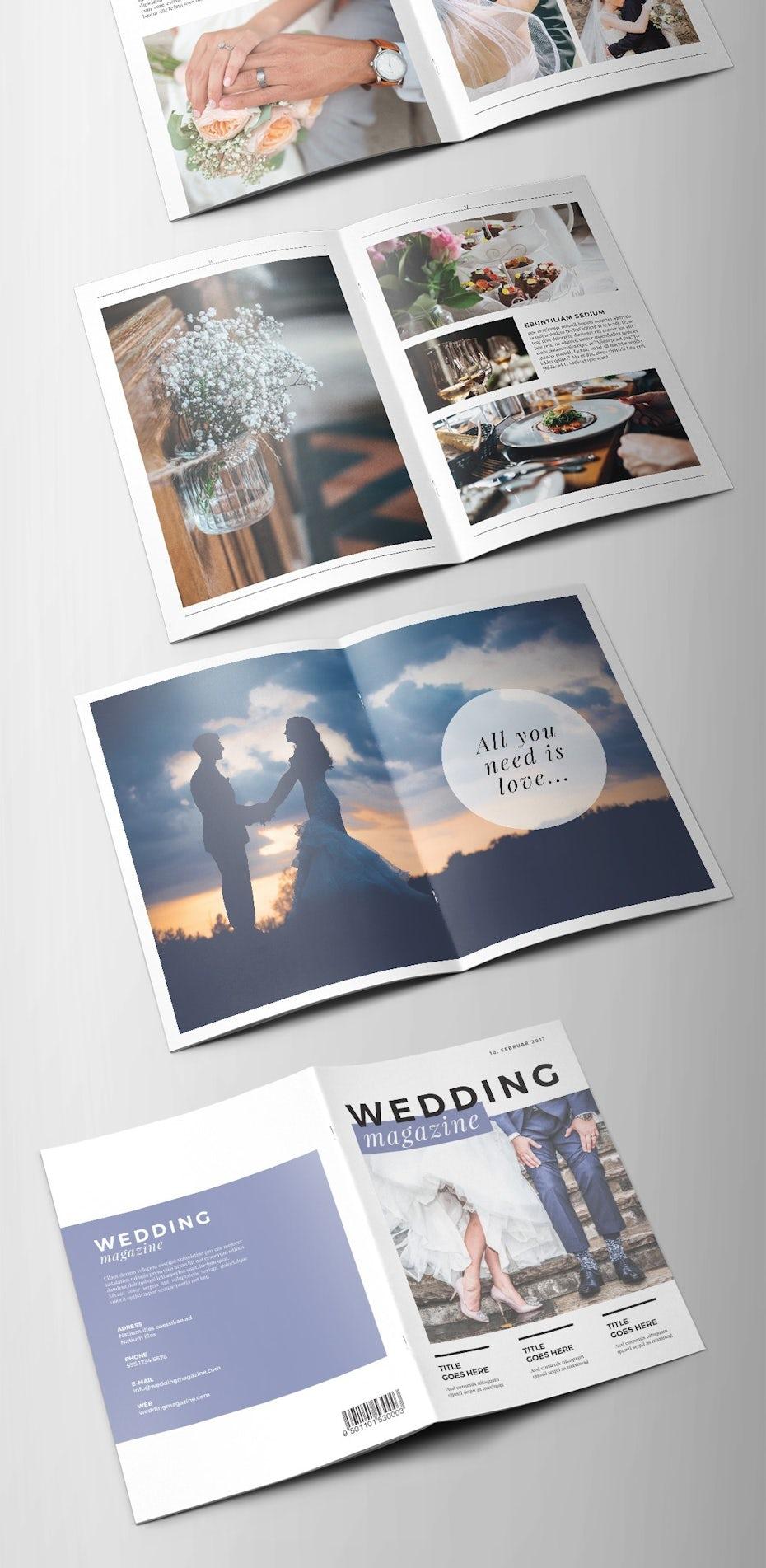 wedding magazine design