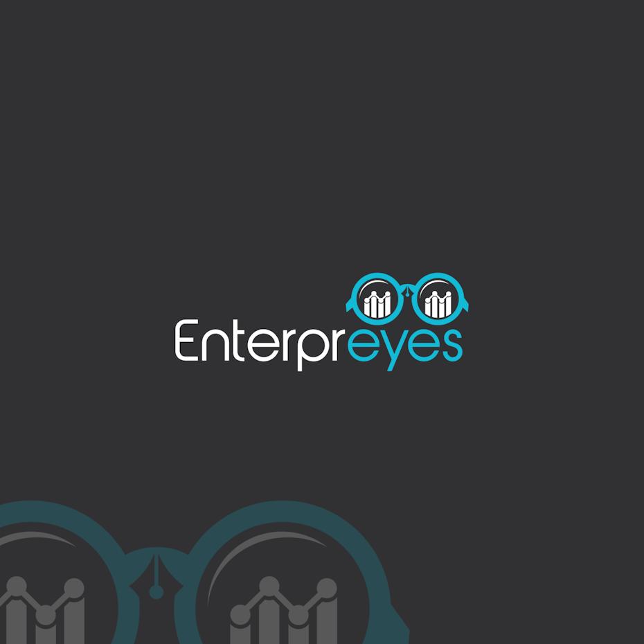 logo design mit brille