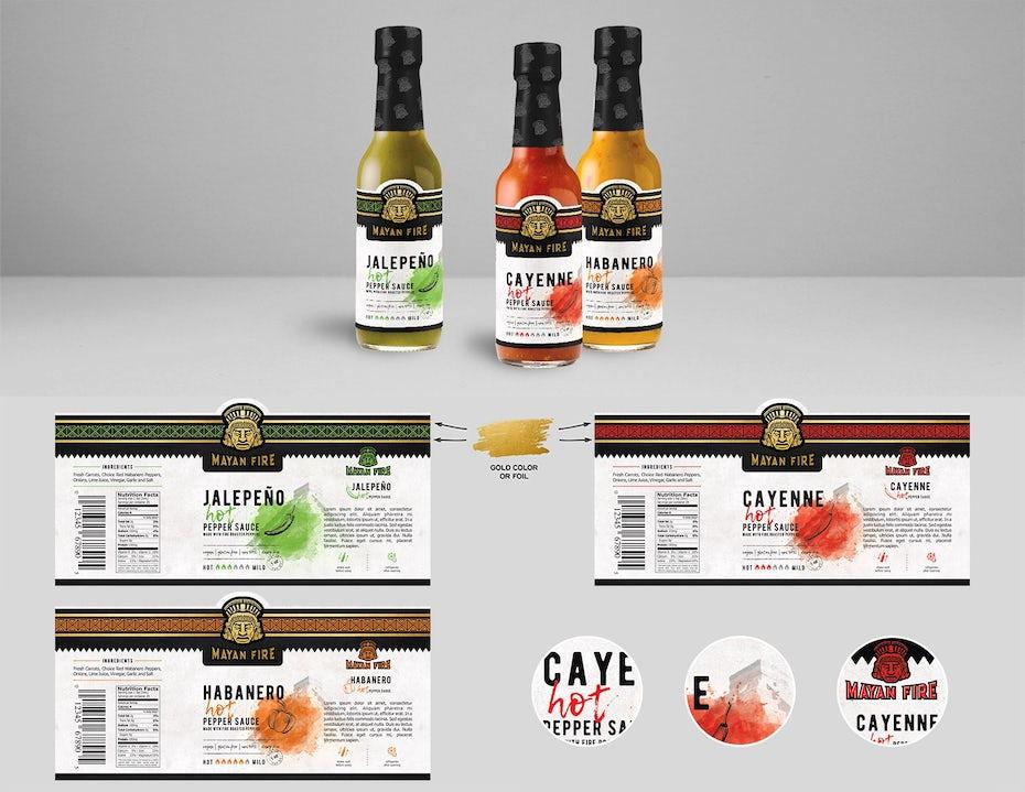 hot sauce label design