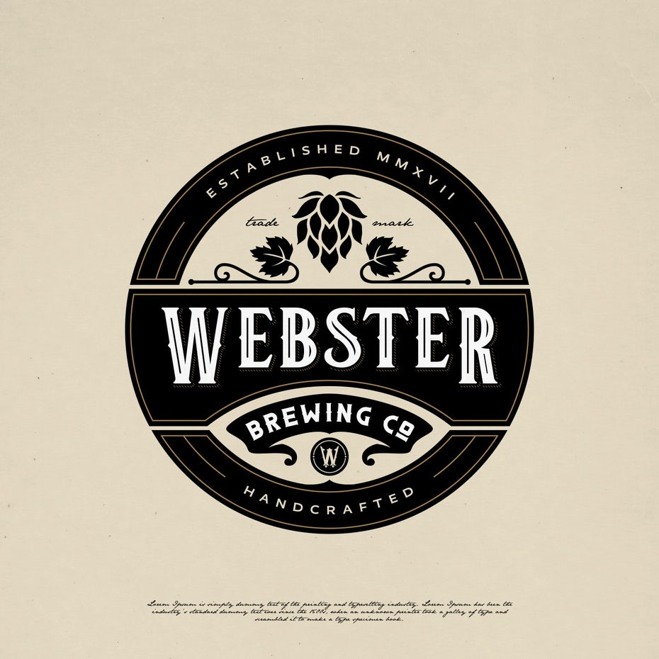 Webster Brewing Co emblem