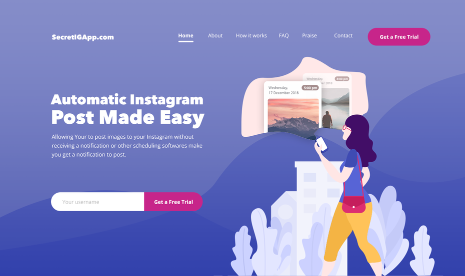 web design for a social media app