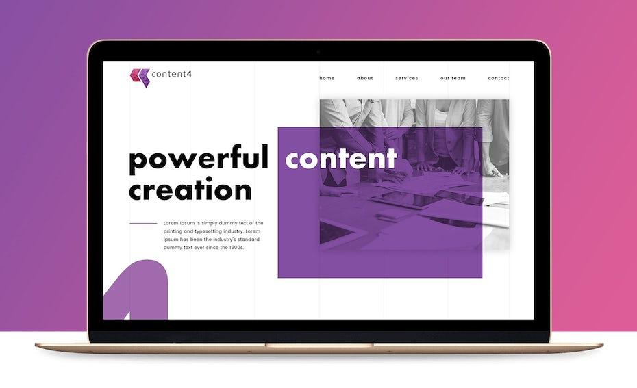 webdesign für content service