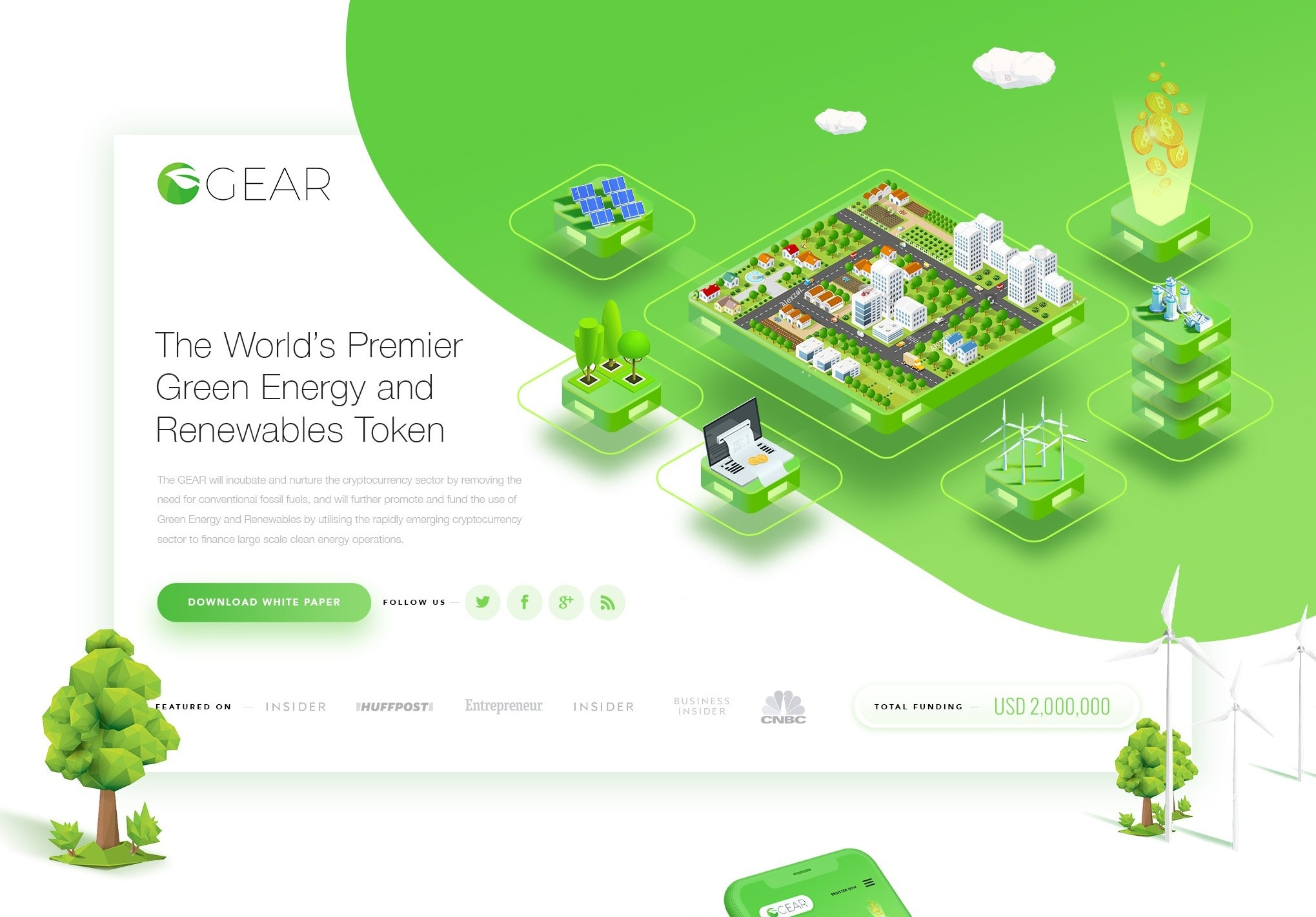 web design for a green energy business