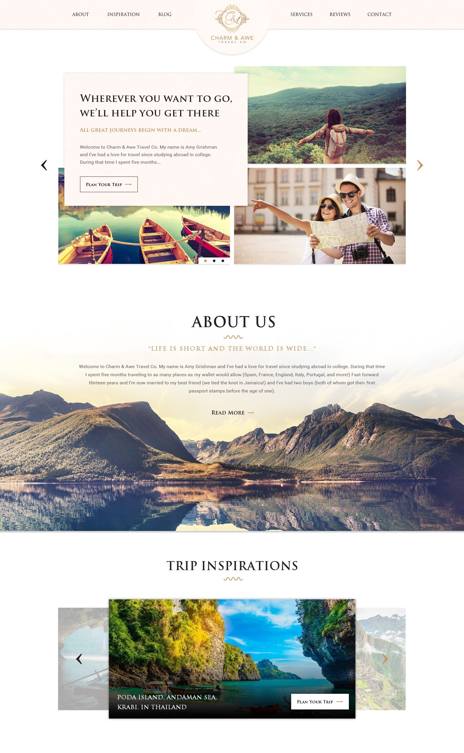 simple romantic web design