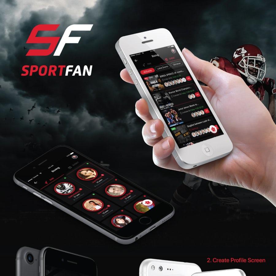 SportsFan app design