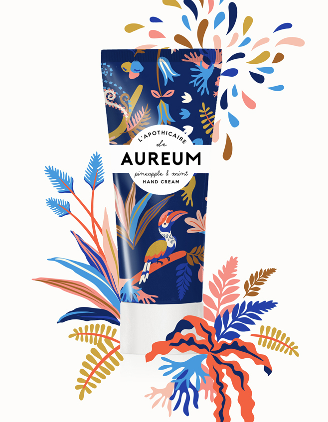different floral patterns on packaging