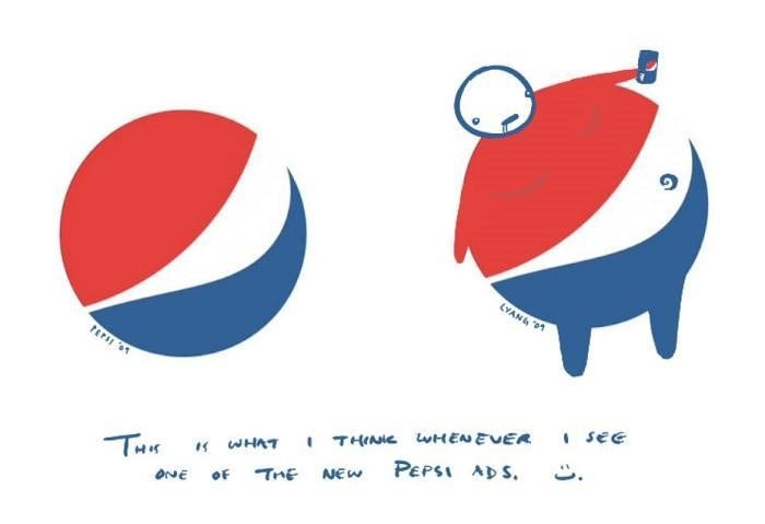 Funny interpretation of Pepsi logo