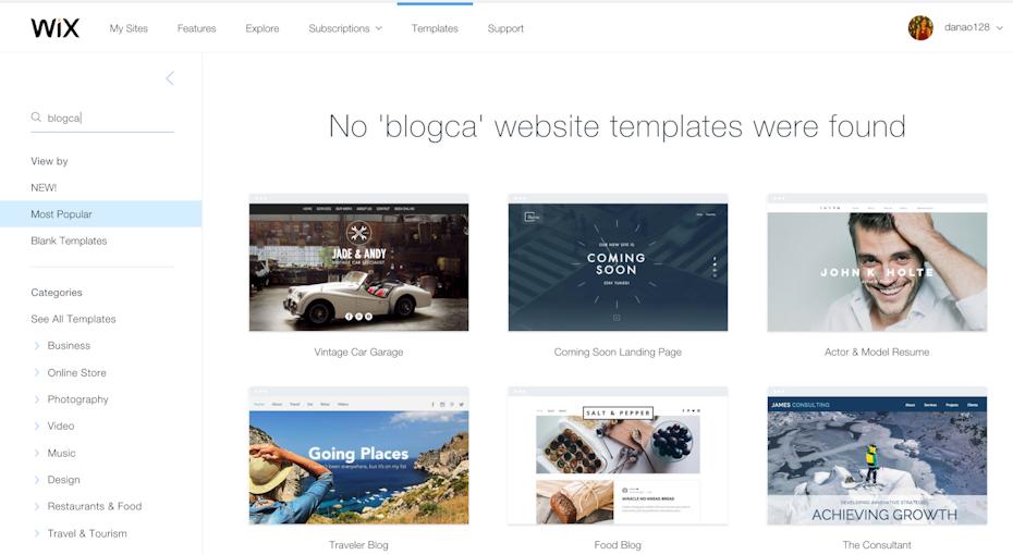 Create blog using WIX