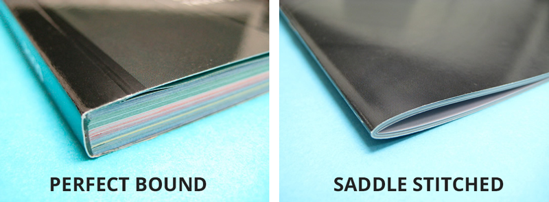 The two most common book binding specifications