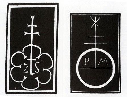 Printers' marks from the 1400s