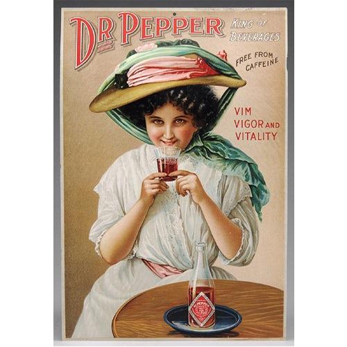 historia del diseño gráfico, Un anuncio de cromolitografía de Dr. Pepper