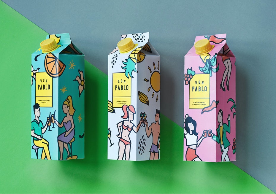 communicatives pattern on a packaging