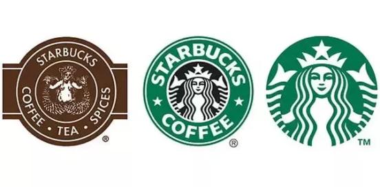 Starbuck logo iterations