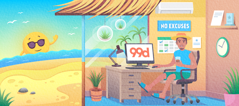 Illustration for a 99designs newsletter