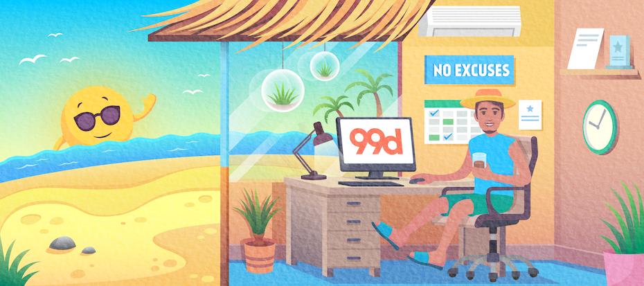 Illustration for a 99designs newsletter