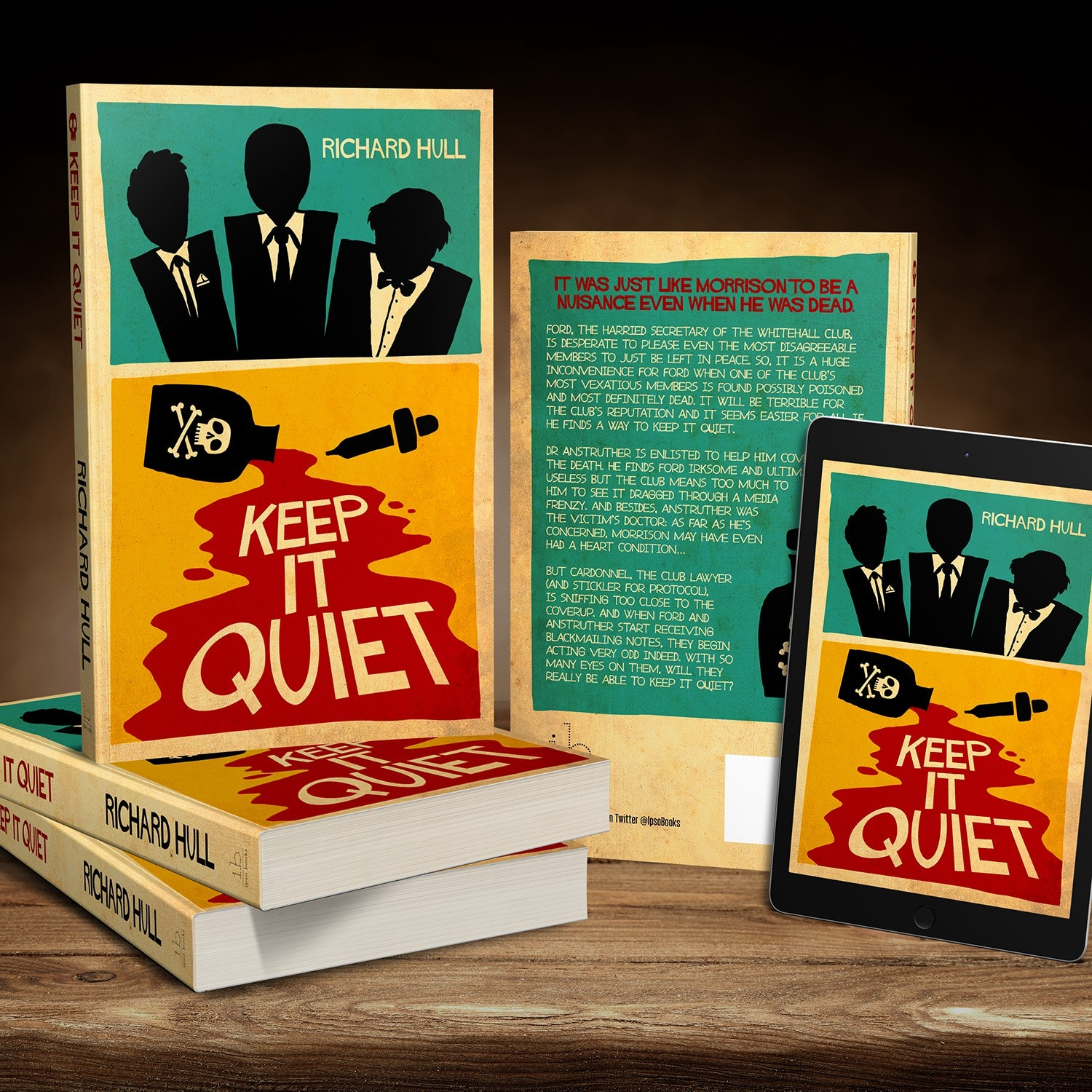 cover design for Keep it quiet