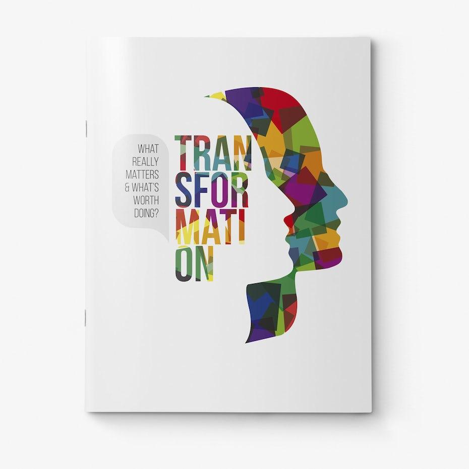 types of graphic design example: magazine cover design