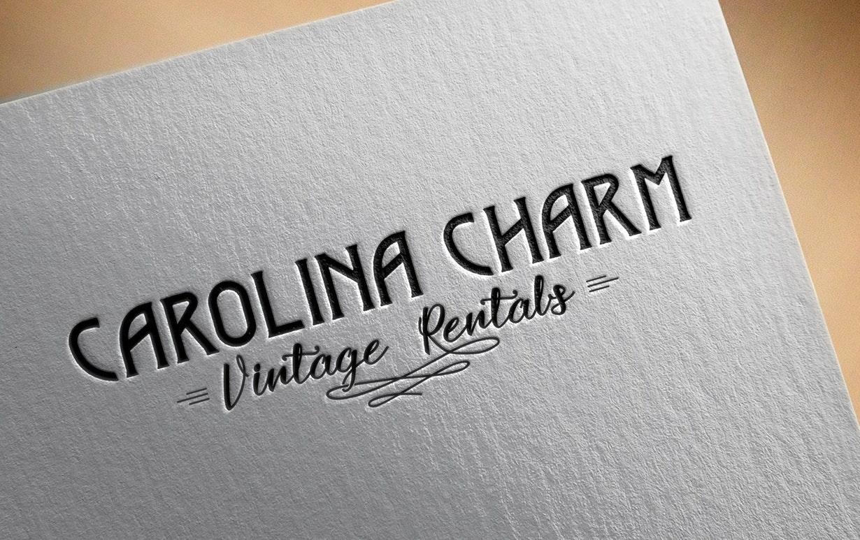 Vintage wedding logo