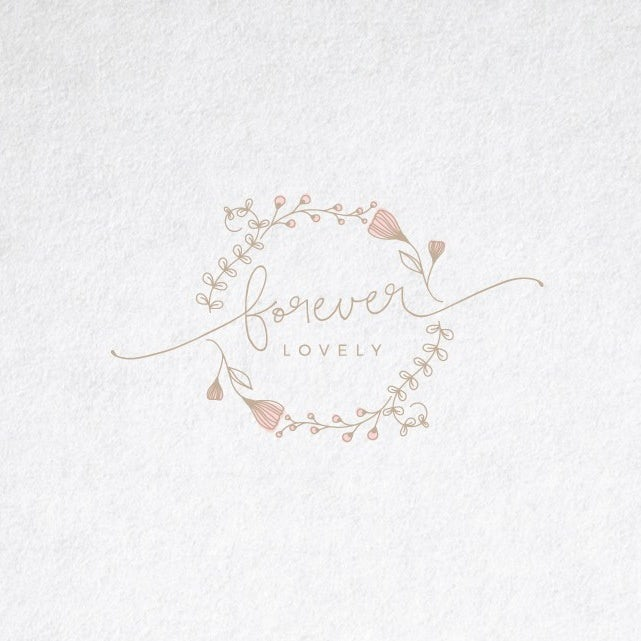 Ornamental wedding logo