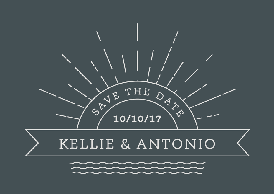 line art wedding logo