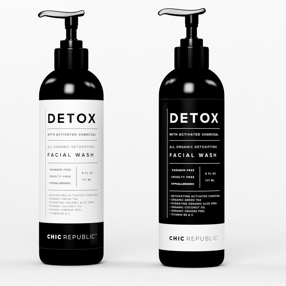 types of graphic design example: label design