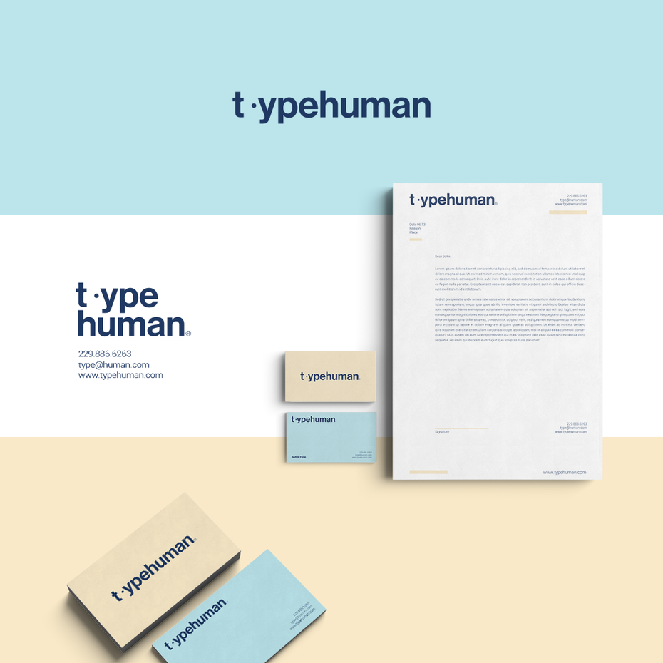 types of design example: visual identity design