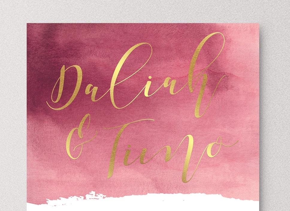 hand-lettered wedding logo
