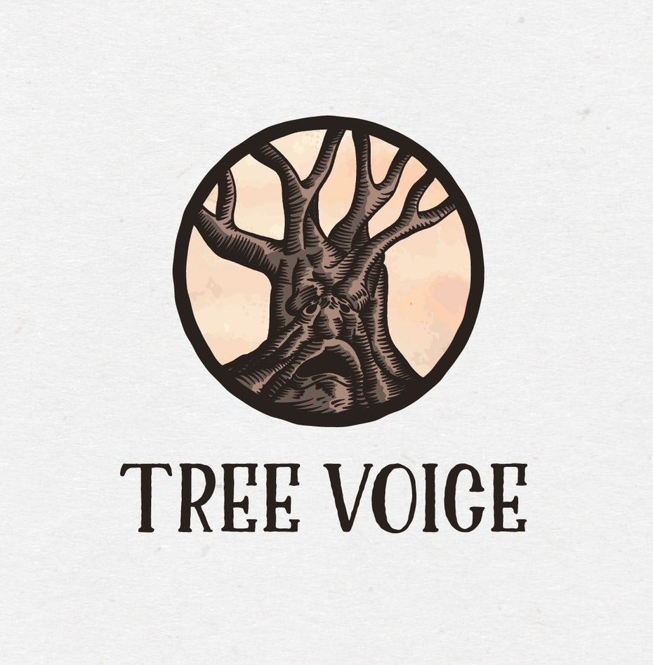 Tree voice logo