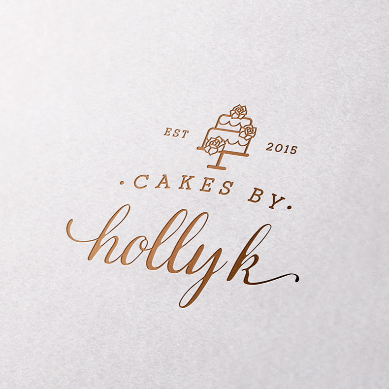 Calligraphic wedding logo