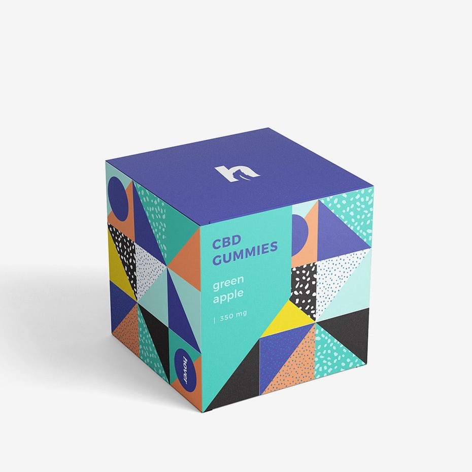 types of graphic design example: packaging box design