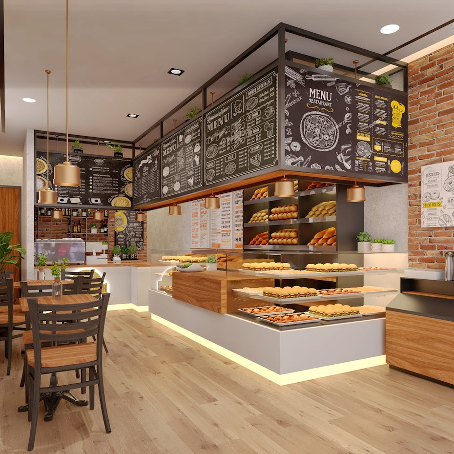 types of graphic design example: coffee shop design