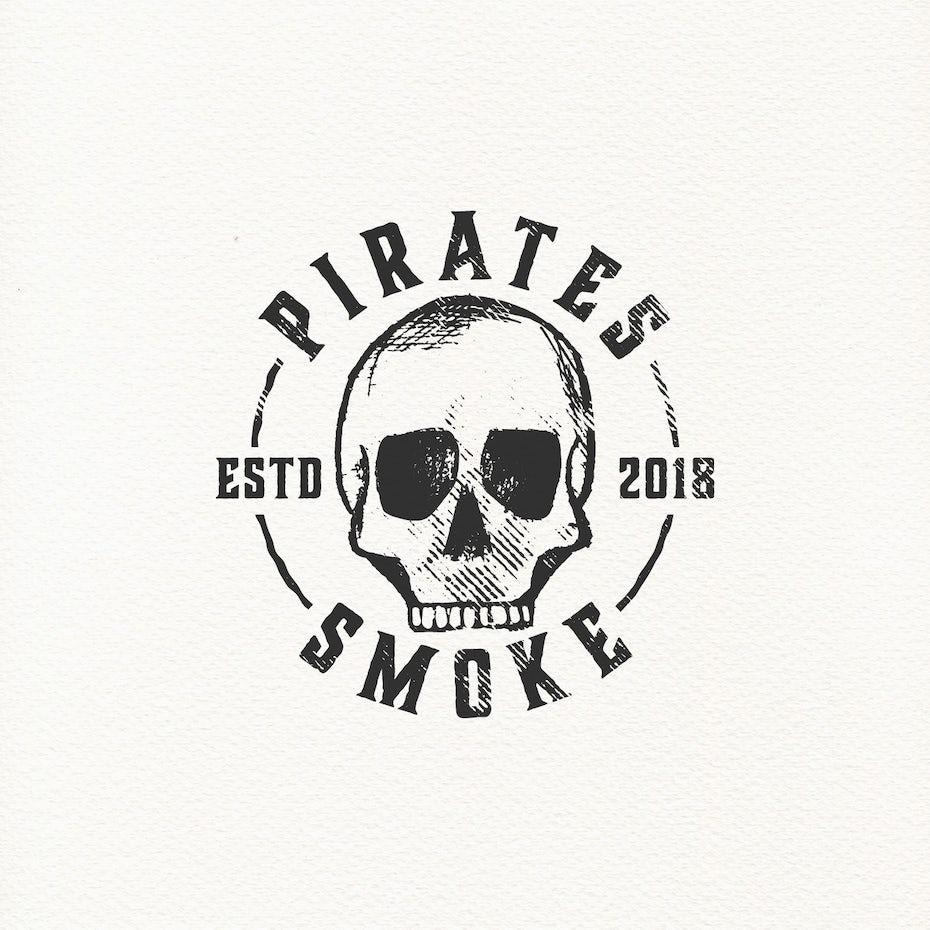 Pirates Smoke logo design
