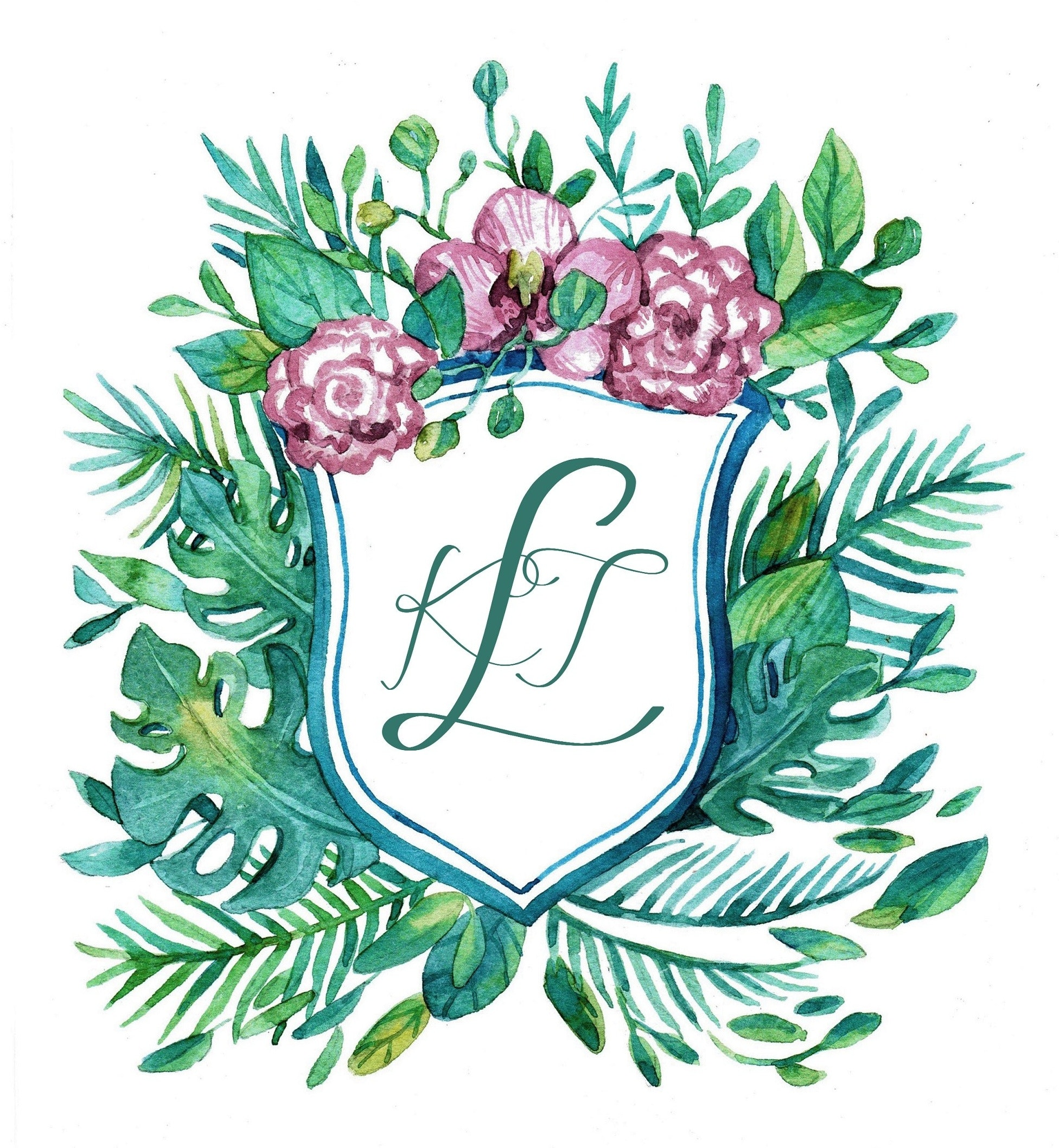 Illustrative wedding logo