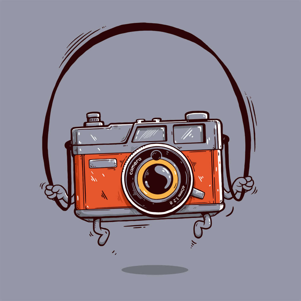 Wacom Bamboo camera illustration