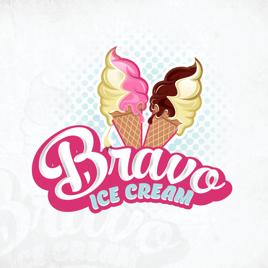 Modern ice cream logo