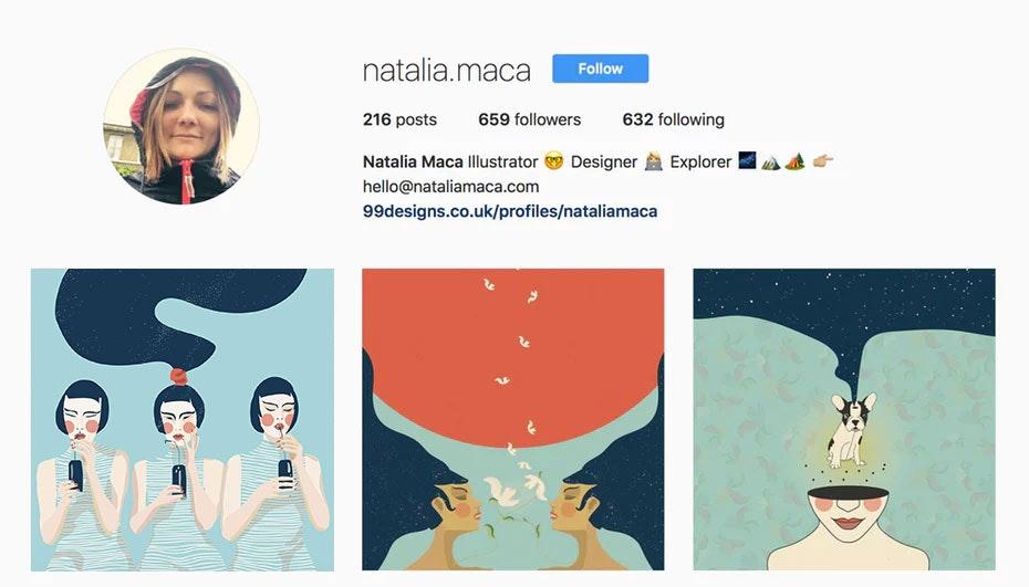 natalia maca instagram designer