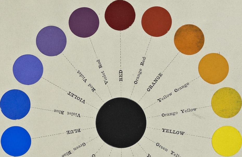 illustration of a color wheel
