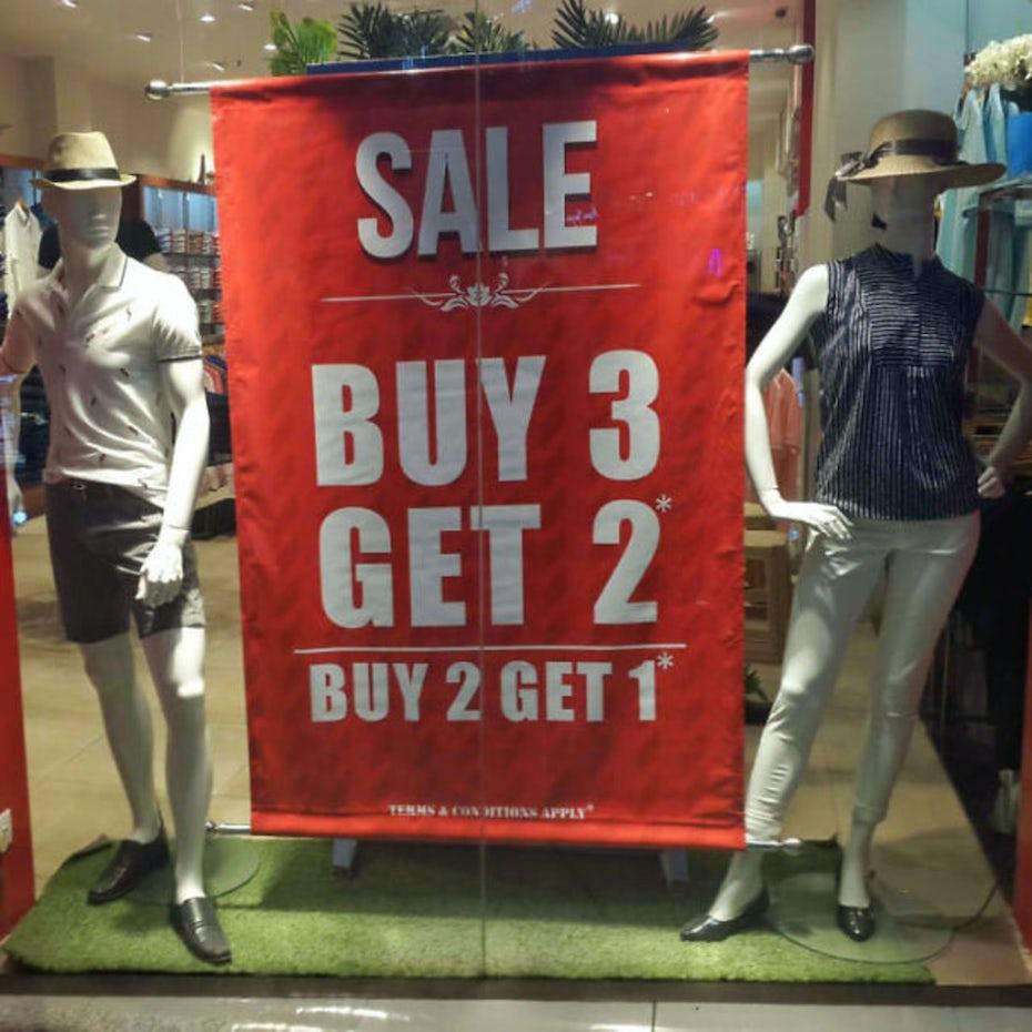 Sale Buy 2 Get 1 design fail