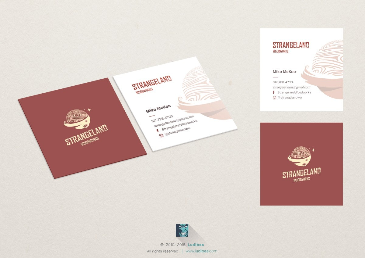 Business card with logo as watermark