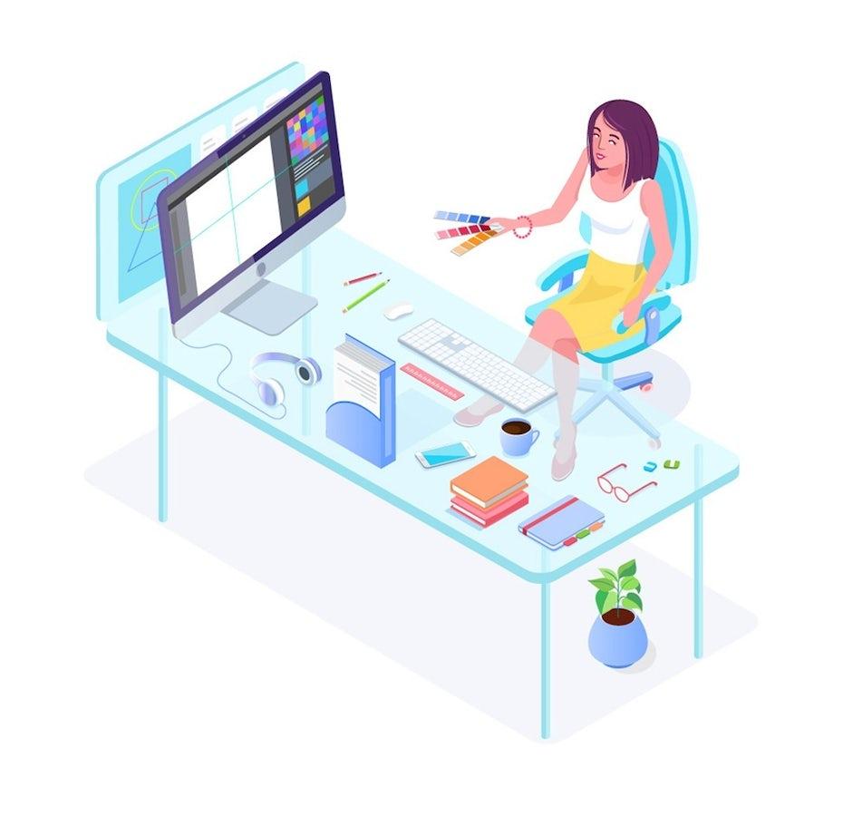 illustration of graphic designer