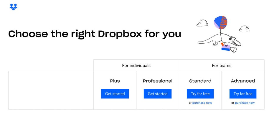 Dropbox accent graphics