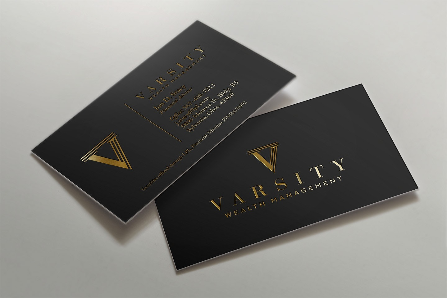 wealth management business card design