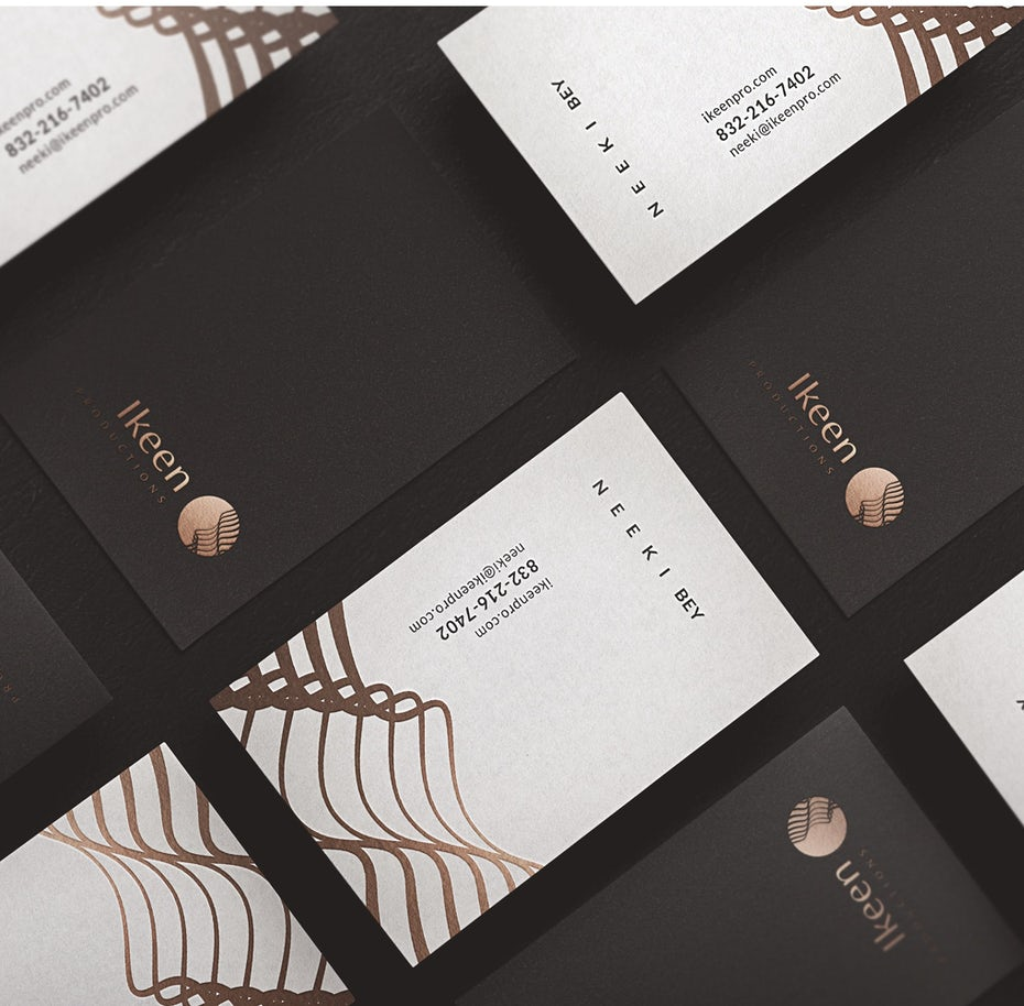 cool and modern business card