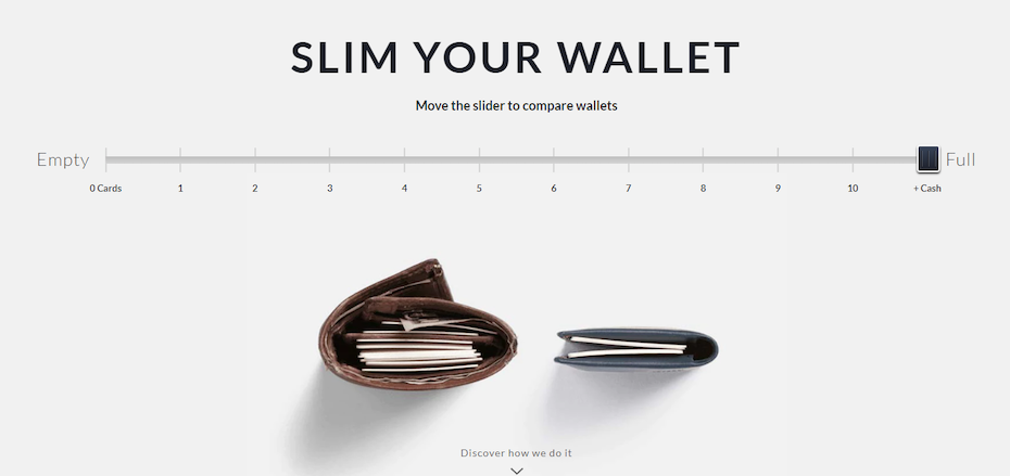 bellroy slim your wallet slider