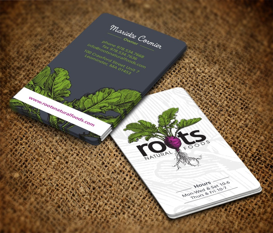Beet business card