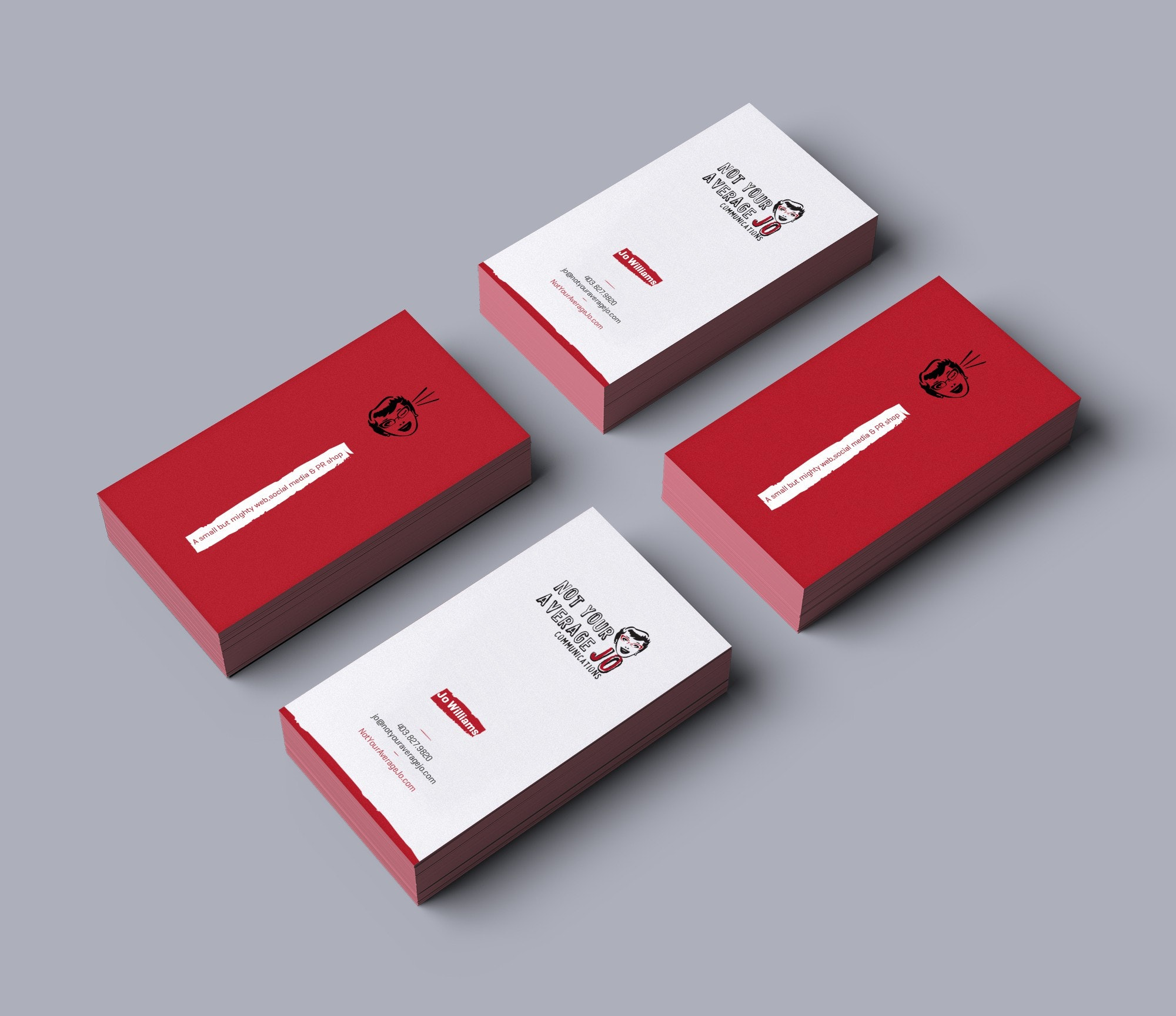 fun colorful business card